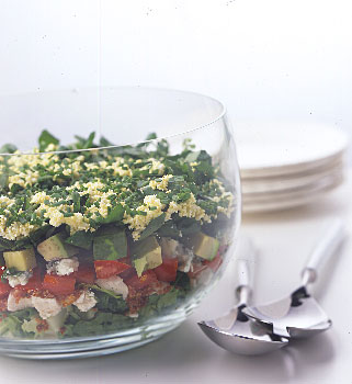 (Photo Credit: Romulo Yanes, http://www.epicurious.com/recipes/food/views/Layered-Cobb-Salad-106567, Layered Cobb Salad)