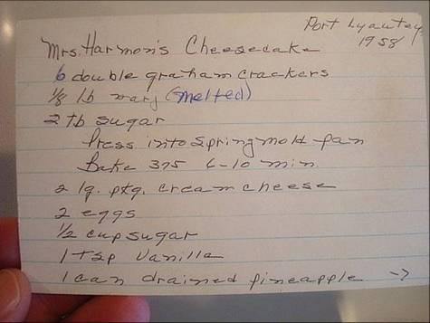 Original Recipe Cheesecake Front