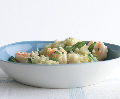 (Photo Credit: Romulo Yanes, http://www.epicurious.com/recipes/food/photo/Lemony-Risotto-with-Asparagus-and-Shrimp-352773)