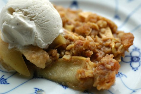 apple crisp oatmeal topping