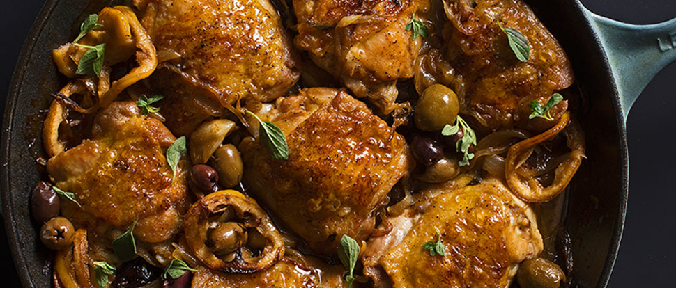 Braised chicken thighs with garlic lemon and greek olives braised chicken thighs with garlic lemon and greek olives forumfinder Gallery